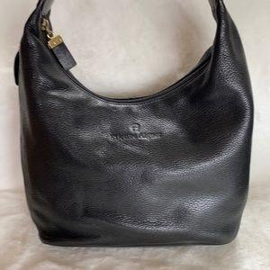 Etienne Aiger Black Leather Shoulder Bag. VGUC